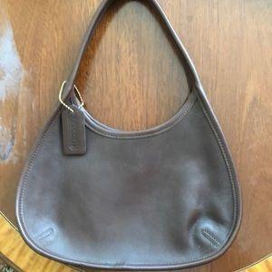 Vintage Chocolate Brown Coach Shoulder Bag